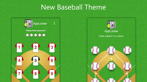 Base Ball Theme :Mega App Lock