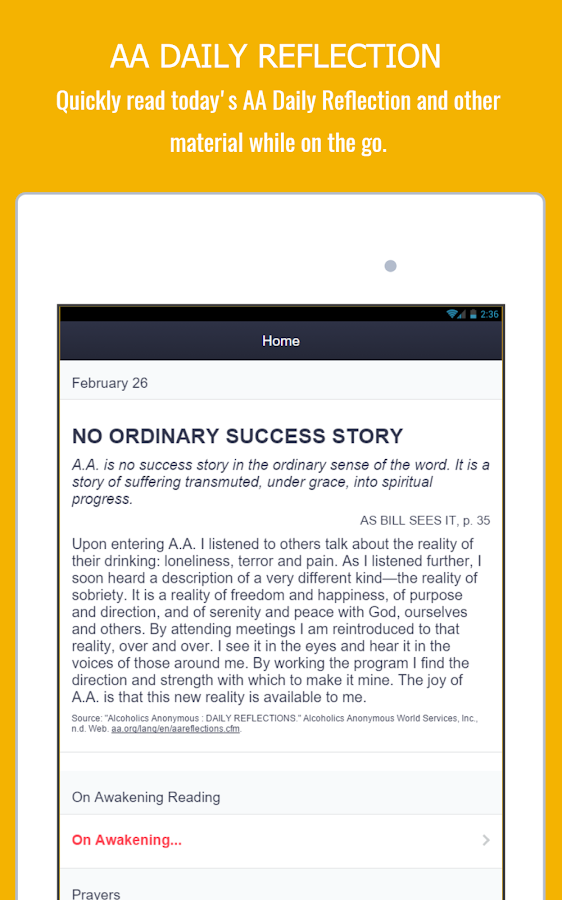 AA App  - 12 Steps Toolkit - Alcoholics Anonymous- screenshot