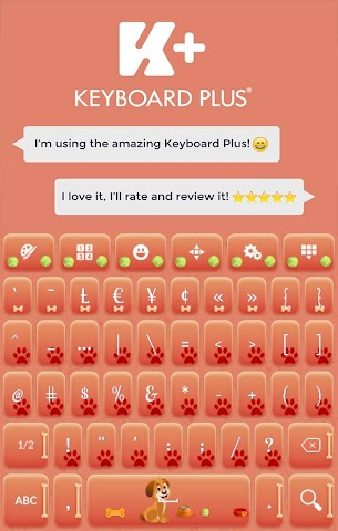 android Sweet Puppy Keyboard Screenshot 5