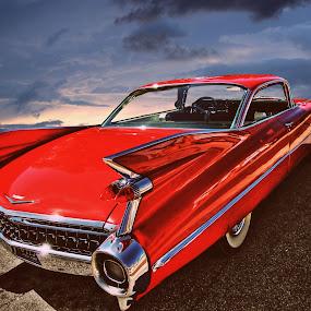 Fleetwood by JEFFREY LORBER - Transportation Automobiles ( fleetwood, 1959, lorberphoto, cadillac, rust 'n chrome, jeffrey lorber, red car, car photo,  )