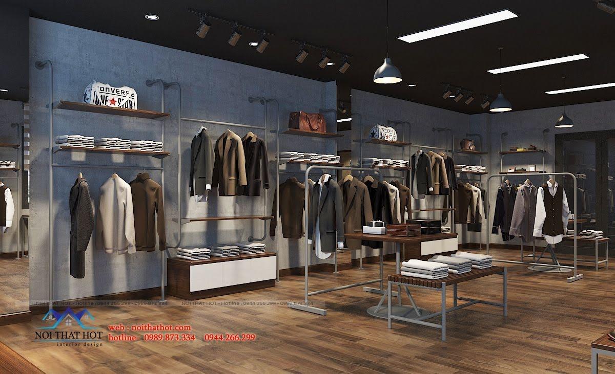thiết kế shop thời trang nam polido 9