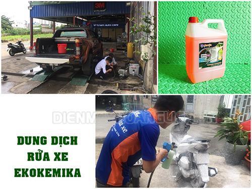 Ekokemika là một trong những dung dịch rửa xe không cần lau