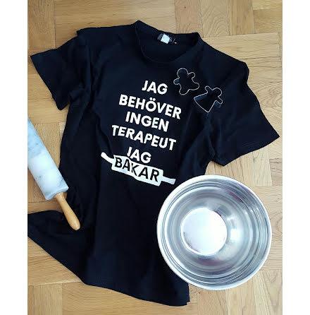 T-shirt - Jag bakar, svart