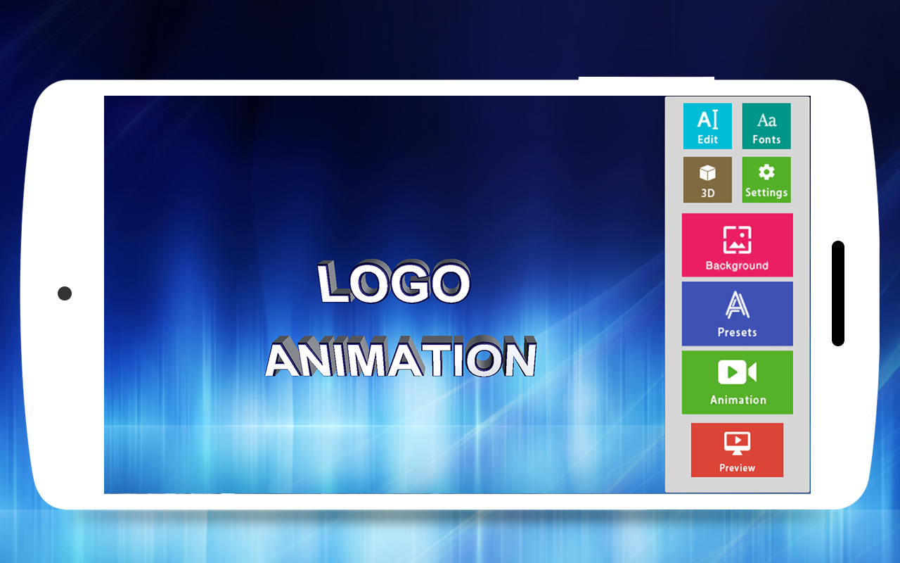 3d text animator intro maker 3d logo animation android apps on google play