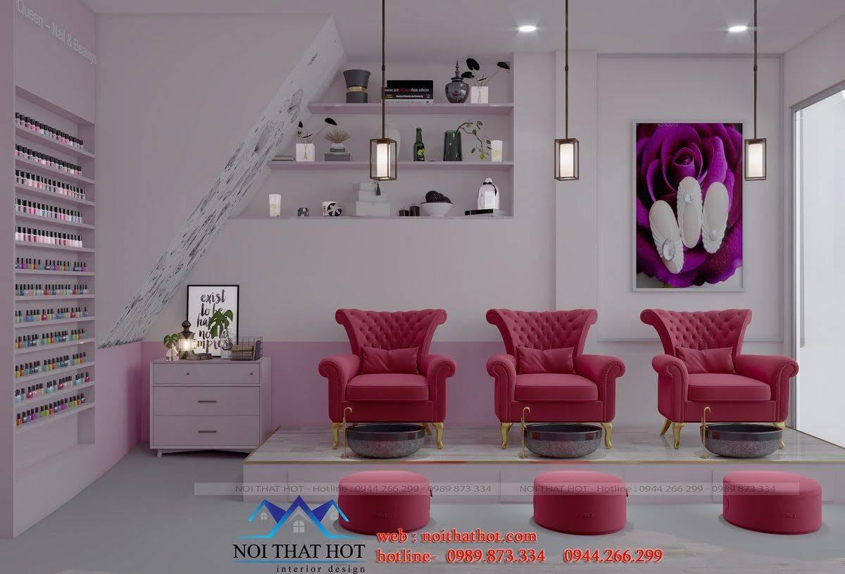 thiết kế shop nail hiện đại