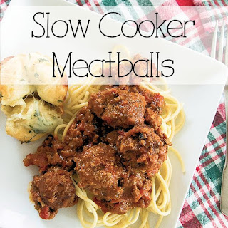 Slow Cooker Meatballs.