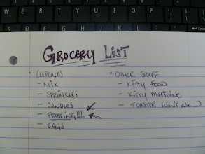 Photo: So we made a list of the things we'd need to celebrate (plus a few extra things).