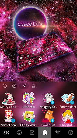 Space Dust Emoji Kika Keyboard 41.0 screenshot 1366103