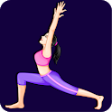 Yoga poses for stress relief: Stretching exercises icon