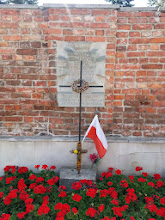 Photo: Another memorial for a mass killing. This one sits directly across the street from a church and marks the spot where 34 people were slaughtered in 1943.