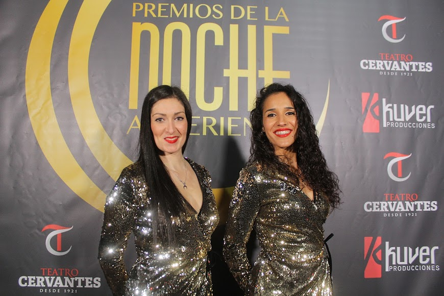 Azafatas de los Premios de la Noche Almeriense, en el photocall.