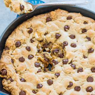 Chocolate Chip Marshmallow Skillet Cookie.