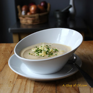 Roasted Cauliflower and Cheese Soup.