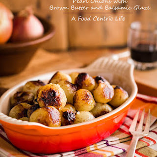 Pearl Onions with Brown Butter and Balsamic Glaze Recipe