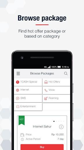 MyTelkomsel u2013 Check Quota & Best Internet Packages 3.15.0 screenshots 4