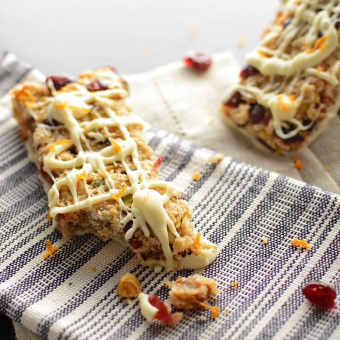 Cranberry Orange Granola Bars Recipe | Yummly