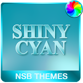 Shiny Cyan Theme for Xperia