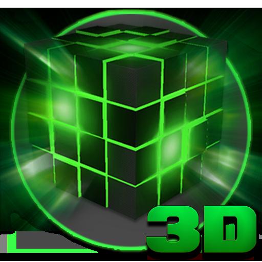 Alien Tech Cube 3D