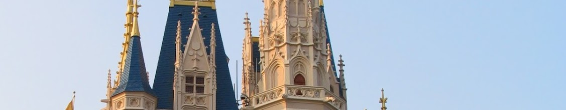 Photo: Cinderella's Castle gleams in the setting suns light as we enter the Magic Kingdom in Walt Disney World.
