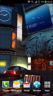 Futuristic City 3D Pro lwp Screenshot