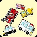 がらがらぶーぶー - 働く車で積み木【子供が喜ぶ知育アプリ】 icon