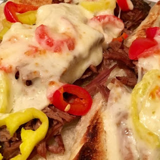 Slow Cooker Italian Beef for Sandwiches.