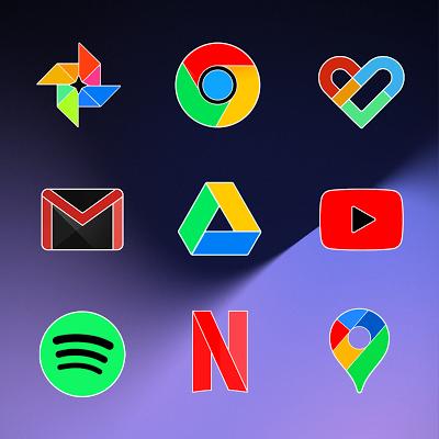 Pixel Limitless Fluo - Icon Pack Screenshot Image