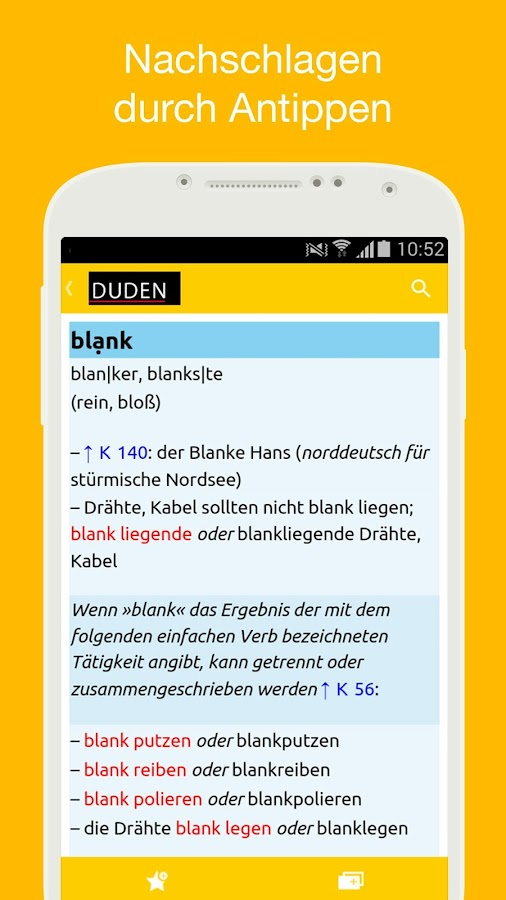 Duden German Dictionaries- screenshot