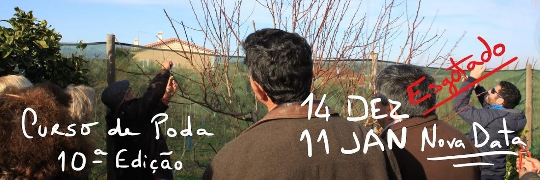 Poda em Árvores de Fruto – 11 Jan 2020 (Curso Básico 10ª edição) e 18 Jan 2020 (Curso Avançado 3ª edição)