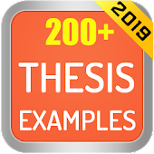 Thesis Examples 2019