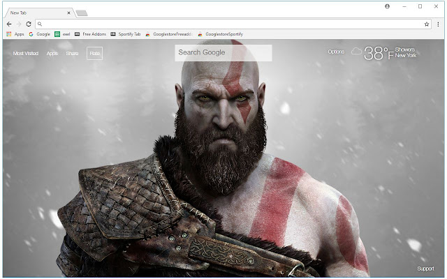 2018 God Of War 4 HD Wallpapers New Tab