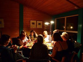 Photo: Middag på kvällen efter att många hade utnyttjat alla de fina kurser som stod till buds.