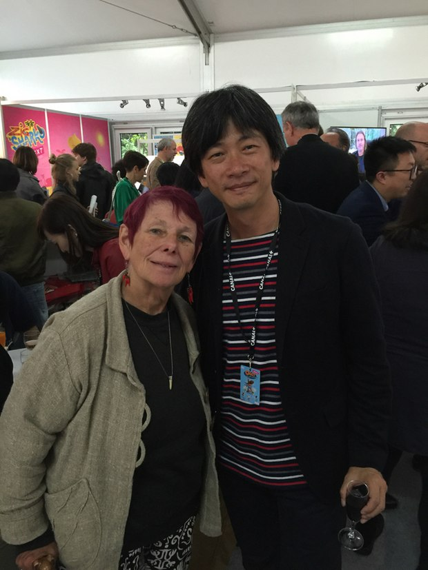 Nancy with Taiwanese animator Li Wei Chiu
