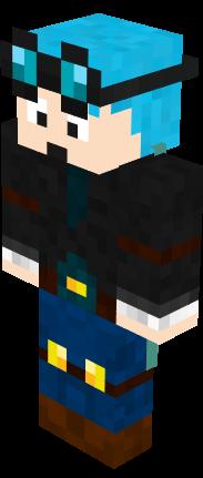 Dantdm With Cape And Blue Hair Nova Skin