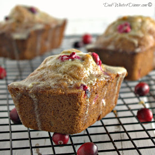 Cranberry Eggnog Christmas Bread.