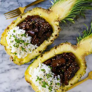 Teriyaki Pineapple Bowls – Vegan!.