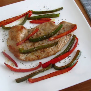 Turkey Steaks With Peppers.