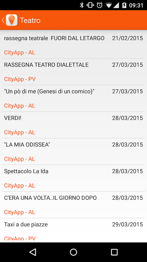 CityApp- screenshot