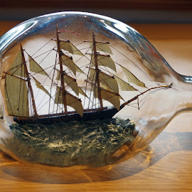 Ship in a Bottle by Ingrid Anderson-Riley - Artistic Objects Antiques