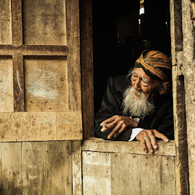 old man 4 by Tiz Brotosudarmo - People Portraits of Men (  )