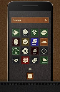 Texture Leather - Icon Pack UX Theme Screenshot