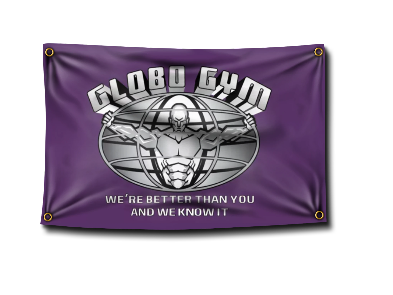 Globo Gym Dodgeball Flag Banner from one of the largest retailer in America, Banger makes a perfect decor for garage gym's entrance