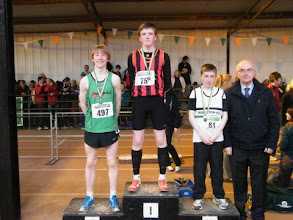 Photo: National Winners in the Boys U/14 Long Jump - 1st Moycarkey Coolcroo A.C. with a new National Record of 5.64m