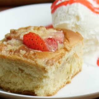 Strawberry Cheesecake Pull Apart Bread Pudding.
