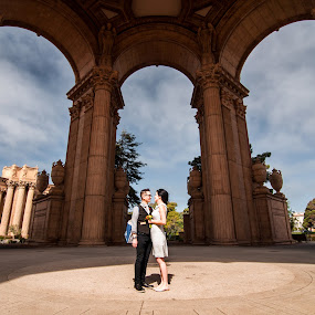 Candid wedding shoot at Palace of Fine Arts SF by Michael Keel - Wedding Bride & Groom ( candid wedding shoot at palace of fine arts sf )