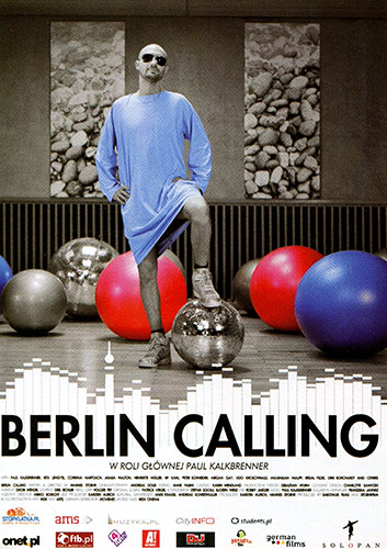 Przód ulotki filmu 'Berlin Calling'