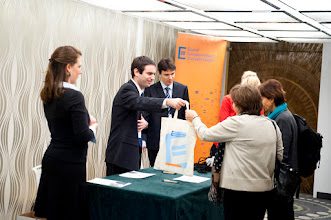 Photo: Greeting guests at the 2012 Equinet Annual General Meeting