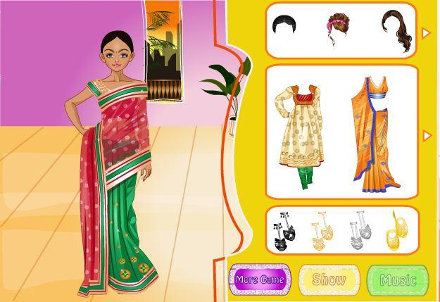 android Indian Bride Dress Up Makeover Screenshot 8