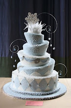 Photo: Winter wonderland wedding cake by Elegant Treats By Farnaz (4/20/2012) View cake details here: http://cakesdecor.com/cakes/12703