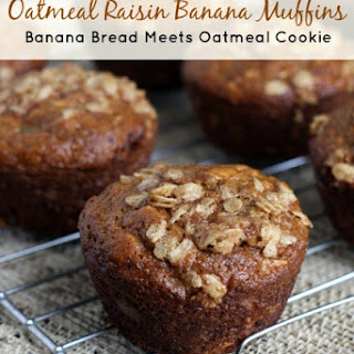 Oatmeal Raisin Banana Muffins